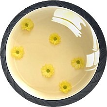 Daisy Yellow Knobs for Dresser Drawers Decorative