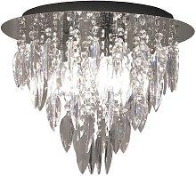 Dallas 3 Light Round Flush Ceiling Chandelier