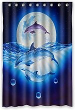 Dalliy Custom dolphin Shower Curtain Polyester