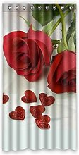 Dalliy Custom Love rose Window Curtain Polyester