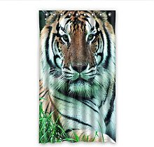 Dalliy Custom Tiger Window Curtain Polyester