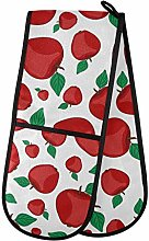 Dallonan Double Oven Mitts Non Slip Classic Red