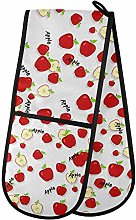 Dallonan Double Oven Mitts Non Slip Red Apples