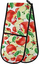 Dallonan Double Oven Mitts Non Slip Watercolor Red