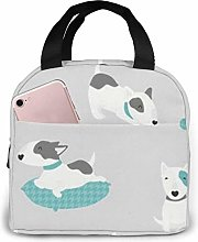 Dalmatian Gray Insulated Lunch Bag Cooler Tote Box