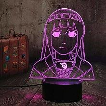 Dalovy Festival 3D Lamp Naruto Hinata Hyuga Figure