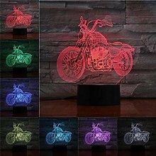 Dalovy Festival 3D Night Light Motorcycle 3D Table