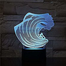 Dalovy Festival 3D Surfing Led Acrylic Night Light