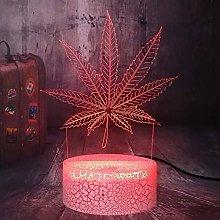 Dalovy Festival Beautiful Weed Cannabis Leaf 3D