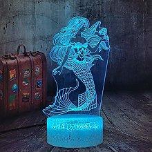 Dalovy Festival Mermaid 3D Illusion Lamp For Girls