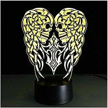 Dalovy Festival Night Light 3D Usb Skull Led Table