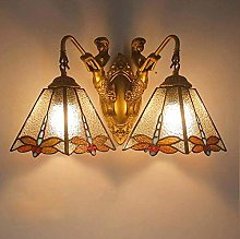 DALUXE 2-Light Tiffany Style Wall Sconce Lighting