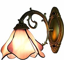 DALUXE Single Head Wall Light, Tiffany Style Glass