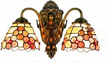 DALUXE Tiffany Style Wall Lamp Sconces Rich Flower