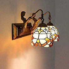 DALUXE Wall Lamp Tiffany Style Stained Glass Shade