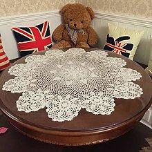 Damanni Beige Cotton Handmade Crochet Lace