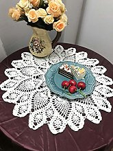 Damanni Cotton Handmade Crochet Lace Tablecloth
