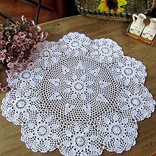 Damanni White Cotton Handmade Crochet Lace