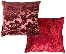 Damask Cushion Cover 17 x 17' Burgundy Bed