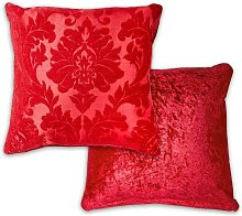 Damask Cushion Cover 17 x 17' Red Bed Sofa