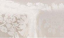 Damask Pattern Tablecloth: Large/White Flower