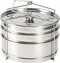 DaMohony Stainless Steel Steamer Cooker Pot Set,