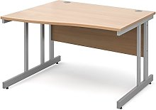 DAMS Momento 1200 mm Left Handed Wave Desk-Beech,