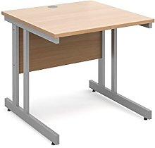 DAMS Momento 800 mm Straight Desk-Beech, Wood,