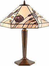 Damselfly lamp, glass and brass