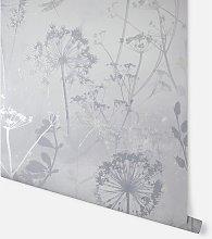 Damselfly Silver Wallpaper 692406 - Arthouse