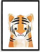 Dan Hobday - Tiger Wood Framed Print, 83.4 x