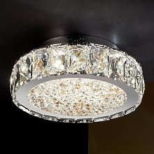 Dana - LED ceiling light with glass crystals