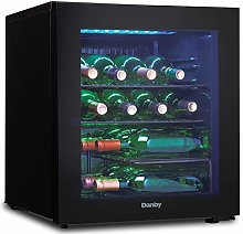 Danby 16 Bottle Countertop Wine Cooler with Glass