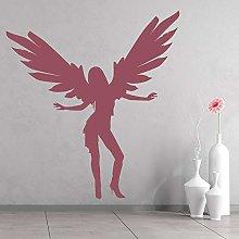 Dancing Angel Wall Decal Female Wings Art Mural