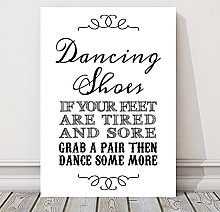 Dancing Shoes Wedding Flip Flop Table Sign (BB)