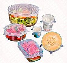 dandandianzi 6Pcs/set Reusable Fresh Keeping Wrap