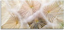 Dandelion Floral Flower Panoramic Canvas Wall Art