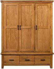 Dandrea 3 Door Wardrobe Union Rustic