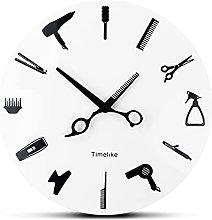 DANFENG Barber Wall Clock Barber Equiment Tools