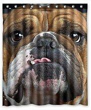 dangfeipeng Bulldog Shower Curtain - Waterproof