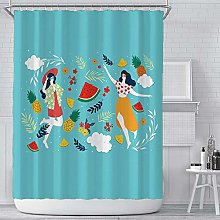 dangfeipeng Shower Curtain Printed Thicken Durable