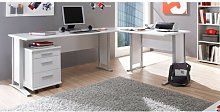Dankrad L-Shape Executive Desk Ebern Designs