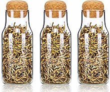 Danmu Art 3Pcs Lead Free Glass Storage Jars