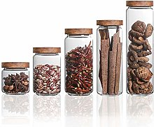 Danmu Art 5Pcs a Set Glass Storage Jars Kitchen