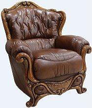 Dante Armchair Italian Leather Sofa Settee Offer
