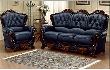 Dante Italian Leather Sofa Settee Offer