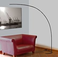 Danua LED arc floor lamp in black