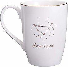 Danxia Ceramic Constellation Mug Coffee Cup, Gold