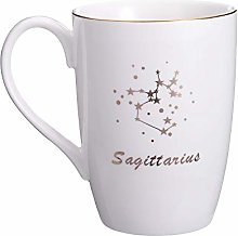 Danxia Ceramic Constellation Mug Coffee Cup, Gold
