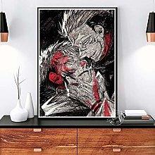 danyangshop Print On Canvas Jujutsu Kaisen Poster